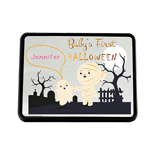 Style in Print Custom Text Baby's First Halloween Mummy Graveyard Plastic Truck Hitch Cover ()