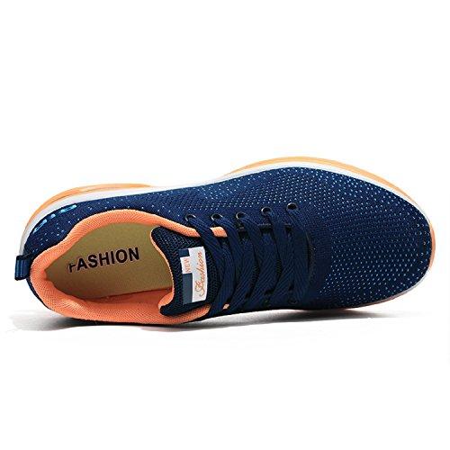All'aperto Sportive Uomo Corsa Donna Tqgold® Da Fitness Running Scarpe Sneakers Ginnastica Blu Interior Casual nqwYdWX75W