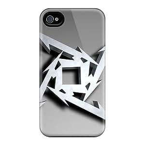 AaronBlanchette Iphone 4/4s Anti-Scratch Hard Phone Cover Custom HD Metallica Image [GIz10177YgYU]