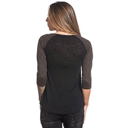 Sullen Clothing -  Maglia a manica lunga  - Collo a U  - Donna