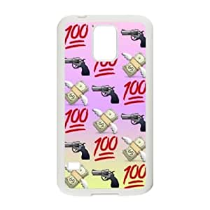 Custom Colorful Case for SamSung Galaxy S5 I9600, 100 Emoji Cover Case - HL-2015199