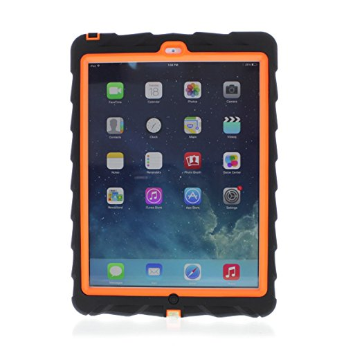 gumdrop cases droptech for apple ipad air rugged tablet case shock absorbing cover black  orange
