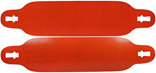 TGM Skateboards 9.5 x 42.25 Drop Thru Longboard Deck Orange - Symmetrical Mirror Shape