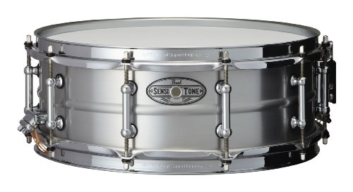 Pearl STA1450AL 14 x 5 Inches Sensitone Snare Drum - Beaded Seamless Aluminum ()