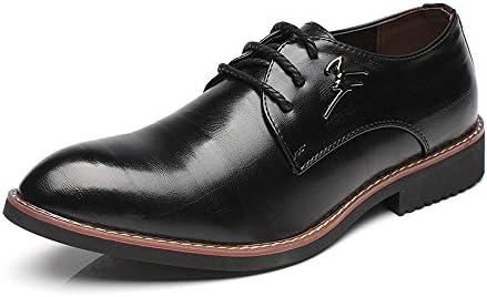 マットPUレザーヴァンプレースアップブロックヒール尖ったつま先並ぶ靴メンズビジネスオックスフォード 快適な男性のために設計