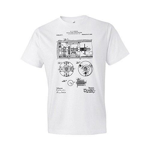 Tunnel Boring Machine T-Shirt, Shaft Boring, Shaft Boring Machine, Construction Gift, Engineer Gift, Patent, Patent Art White (Medium)
