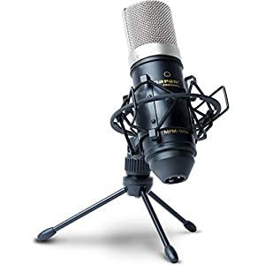 Marantz Pro MPM1000 – Studio Recording Condenser Microphone with Shockmount, Desktop Stand and Cable – Perfect for Podcasting and Voiceover Projects