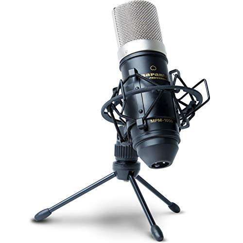 (Marantz Professional MPM-1000 | Cardioid Condenser Microphone with Windscreen, Shock Mount & Tripod Stand (18mm / XLR Out))