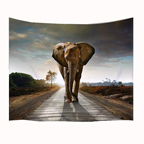 Goodbath Indian Elephant Tapestry, Animal Theme Bohemian Boho Hippie Wall Hangings Tapestries for Bedroom Living Room Dorm, 80 x 60 Inch,Colorful