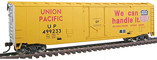 - Walthers Trainline 50' Plug-Door Boxcar with Metal Wheels Ready to Run Union Pacific