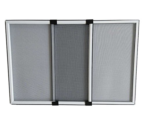 Flyzzz Expandable Sliding Window Screen, Aluminum Frame Anti Mosquito Window Screen for Rolling Doors and Windows (9.84 Inches High By 10-16 Inches Wide, B)