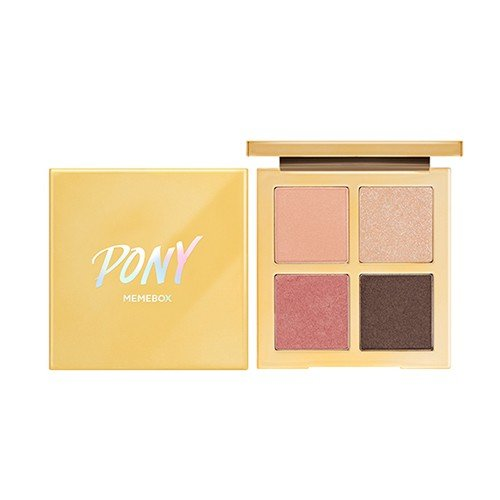 MEMEBOX Pony X Shine Easy Glam 3 Eyeshadow Quad Bloom, Pink