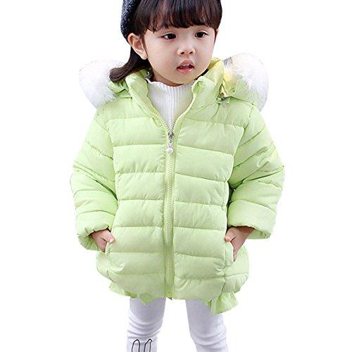 Ankoee Mignon Bébé Fille Manteau Veste Hiver Cape Blousons Vêtements Chauds  Enfants b9798ab8c1ec