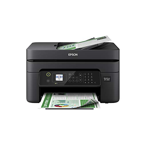 Epson Workforce WF-2830 All-in-One Wireless Color Printer with Scanner, Copier and Fax (Small Printer Scanner Copier)