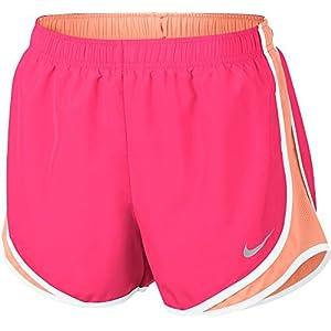 Womens Nike Dry Tempo Running Short (Racer Pink/Sunset Glow, Large)