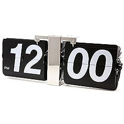 JCC Retro Series Classic Jumbo Large Size Flip Page Down Wall Hanging Clock Quartz Desk Clock