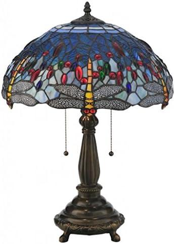 Meyda Tiffany 119650 Tiffany Hanging Head Dragonfly Table Lamp, 22 H