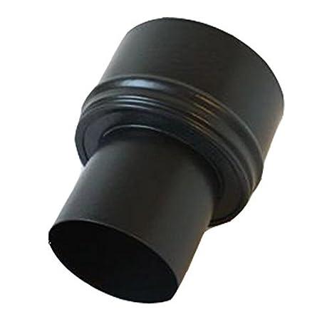 Tubo de humos, estufa pellet-reducción schwarz-Matt 80-150 diámetro 0,6 mm de grosor: Amazon.es: Hogar