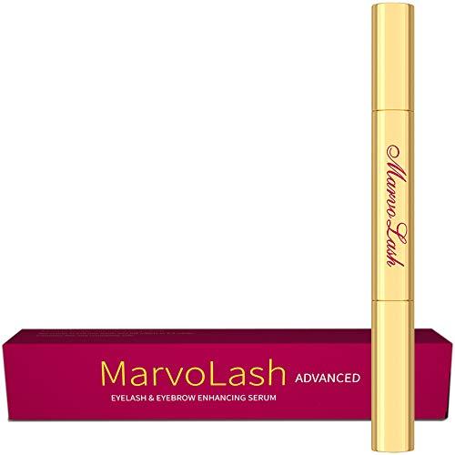 MarvoLash 100 Natural Extract Eyelash Growth Serum. Fast Eyelash Enhancer for Longer, Thicker and Fuller Eyelash and Eyebrow – Advanced Formula – See Effects In 1 Week – 3ml