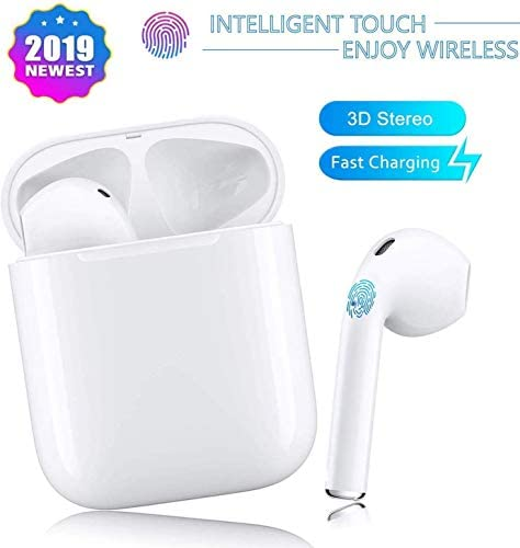 Bluetooth Headphones, Bluetooth 5.0 Wireless Earbuds, 3D Stereo 24H Playtime Wireless Sports Headset, IPX5 Waterproof, Pop-ups Auto Pairing for Android/Samsung (2020NewEarbuds)