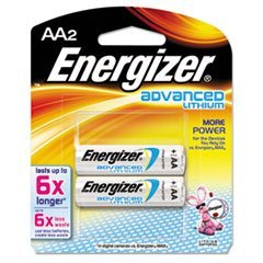 - Advanced Lithium Batteries, AA, 2/Pack