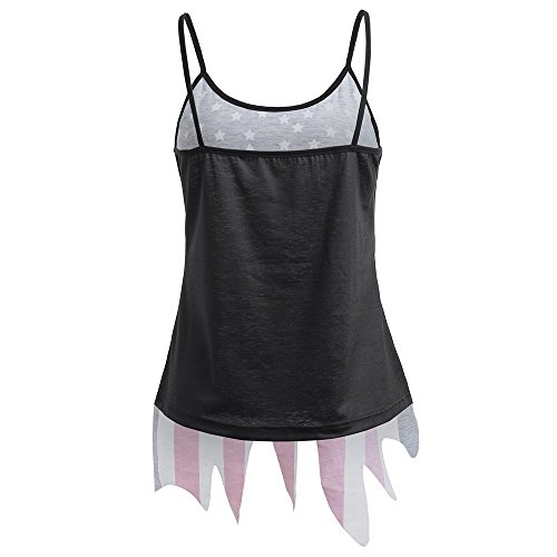 Tsmile Women Tank Sets 2 Pieces Sleeveless Cami Vest Fishnet T-Shirt and American Flag Independence Day Slip Top (Wwe 14 Ps3)