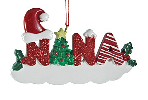(Nana Glitter Resin Hanging Christmas Ornament)