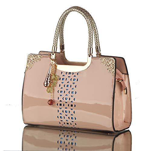Rojo Bag Fashion Female Shoulder 2018 Handbag Vino Lady Patent hlh Leather azul Diagonal Package Zafiro gqrw6HgFx