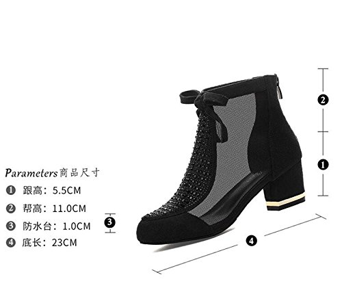 The bow High summer new New high shoes 35 Ajunr Sandals shoes Fashion Work coarse boots heeled Women fashion Heel shoes Jacobs spring tz880aqw