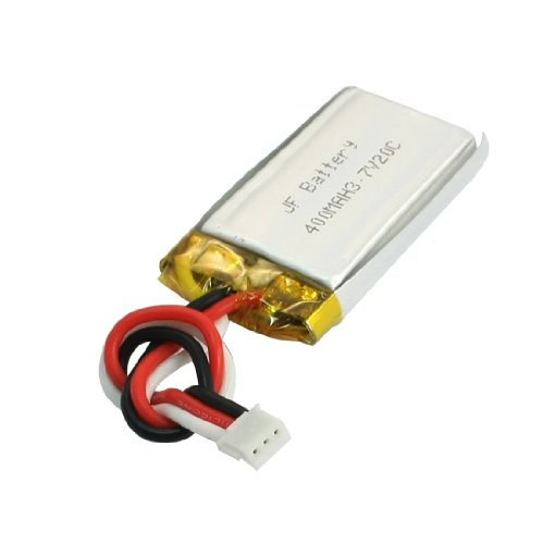 Uxcell a14030300ux0029 3.7V 400mAh 20C Rechargeable Lithium Polymer Battery for RC Airplane