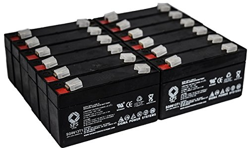SPS Brand 6V 1.3Ah Replacement Battery for Quantum BANTAM (12 PACK) (Battery Bantam Quantum)