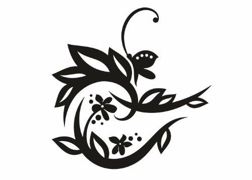 Wandtattooladen Wandtattoo Wandtattoo Wandtattoo - Blüten mit Schmetterling 3 Größe 120x120cm Farbe  weiß B013R7FJQC | Förderung  86617f