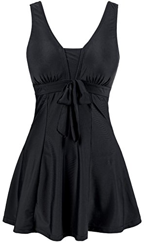 Wantdo Women's Bowknot Dress Cover Up Swimwear Beach Suit Beachwear, Black X-Large