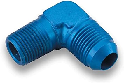 Earl's - 982208ERL Blue Anodized Aluminum -8AN Male to 3/8