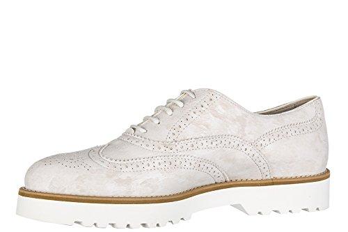 Hogan chaussures à lacets classiques femme en daim h259 brogue francesina route