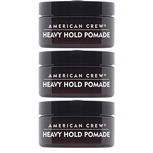 - American Crew Heavy Hold Pomade for Men, High Shine High Hold - 3.0 Ounce (Pack of 3 Jars)