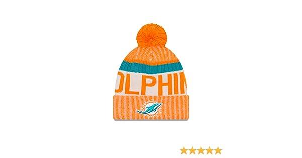 sale retailer 77925 c4ad4 Amazon.com   New Era NFL Miami Dolphins Adult Men Cold Weather Reverse Team Sport  Knit Beanie, OSFA, Orange   Sports   Outdoors