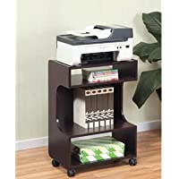 SINTECHNO Mobile Printer Stand S-ID10364 Storage, Dark Cherry