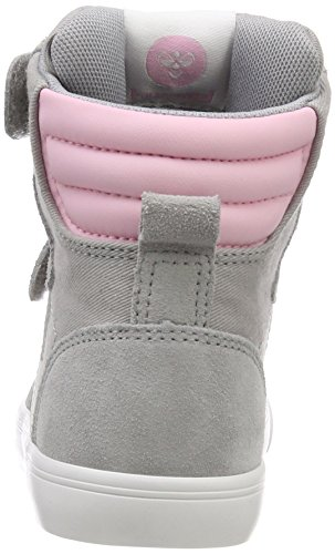 Hummel Unisex-Kinder Slimmer Stadil High Jr Hohe Sneaker Grau (Alloy)