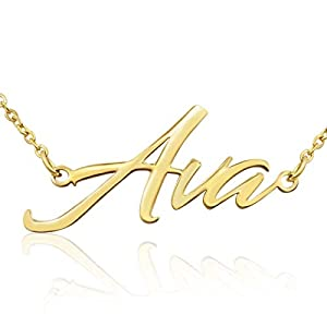 Beam Reach Ava Nameplate Necklace in Gold Tone
