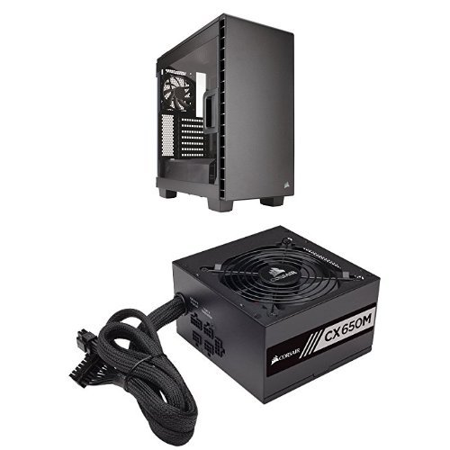 Corsair Carbide Clear 400C Compact Mid-Tower Case and CORSAIR CXM series CX650M 650W 80 PLUS BRONZE Haswell Ready ATX12V & EPS12V Modular Power Supply