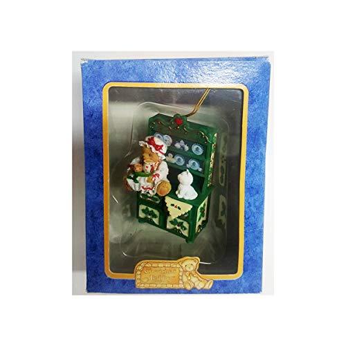 Enesco 1998 Cherished Teddies Christmas Ornament 406481 Happy Holidays Bear
