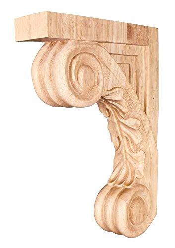 Carved Wood Bar Bracket Corbel (Cherry) - Wood Bar Bracket Corbel