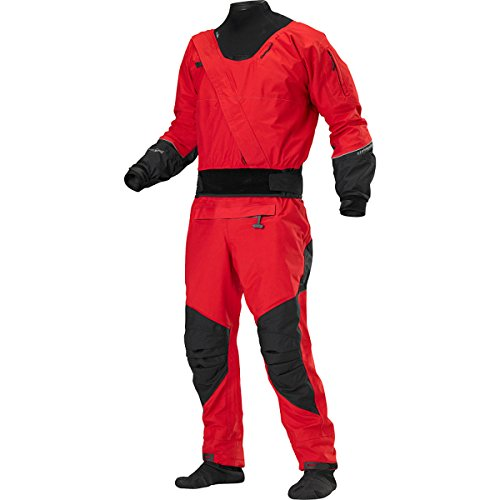 Stohlquist Amp Drysuit with Tunnel Drysuit (Fireball Red/Black, Small) - Latex Neck Gasket