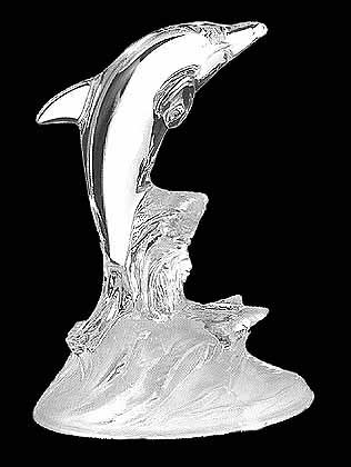 Crystal Dolphin, Cristal d'Arques, Made in France,