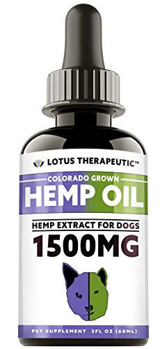 TRUAZTA Hemp Oil for Dogs & Cats Pain Relief, 2 Fl. Oz, 1500mg, Dog Anxiety Relief, Natural Hemp Oil for Pets, Stress Relief Essential Oil and Anxiety Relief Supplements