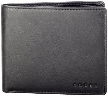 Cross Men's Leather Credit Card Wallet with Large Compartment - Black