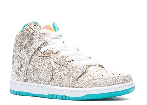 Nike Mens Dunk High Premium SB White/Hyper Jade Leather Size 12