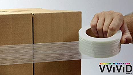 1x180ft 3-roll Pack VViViD Professional Grade Fiberglass Reinforces Filament Strapping Tape Roll
