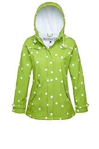 AMUNDSEN`S FJELL Derber Damen Softshell Mantel FRIDA Jacke Dots grün green